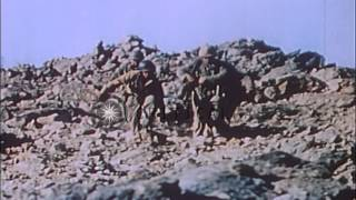 Video Heavy artillery shelling between Americans and Japanese on Iwo Jima, Japan. HD Stock Footage download MP3, 3GP, MP4, WEBM, AVI, FLV November 2018
