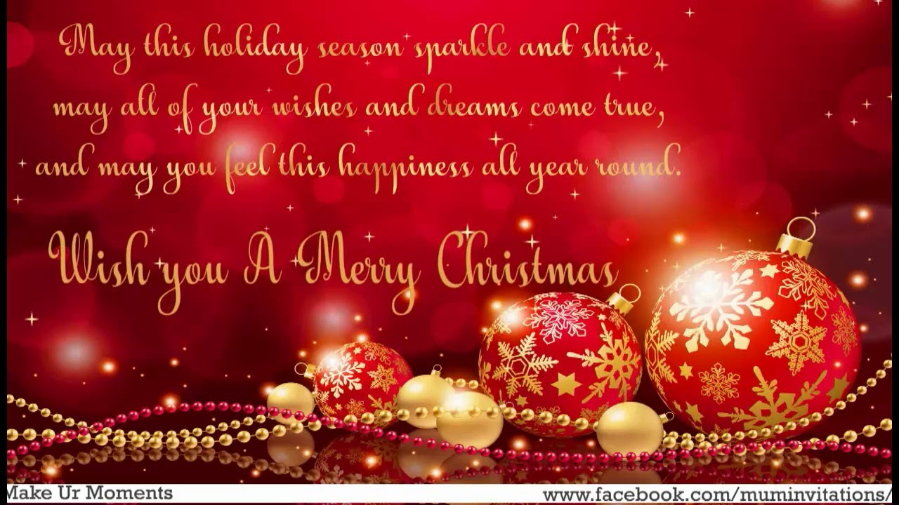 Merry Christmas 2017 Wishes, Greetings, Quotes And Whatsapp Images