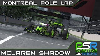 iRacing // McLaren Shadow Montreal Pole lap // 1:13.805