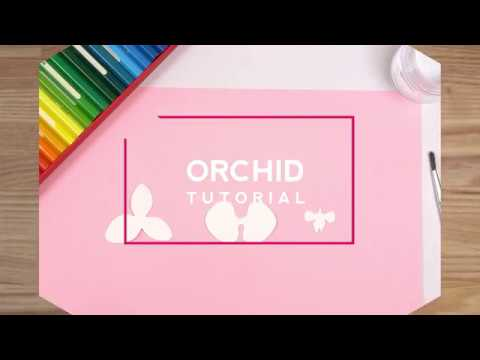 """[FULL TUTORIAL]How to make Paper Flowers """"Orchid"""" COLORING AND BLOOMING[SUPER EASY]"""