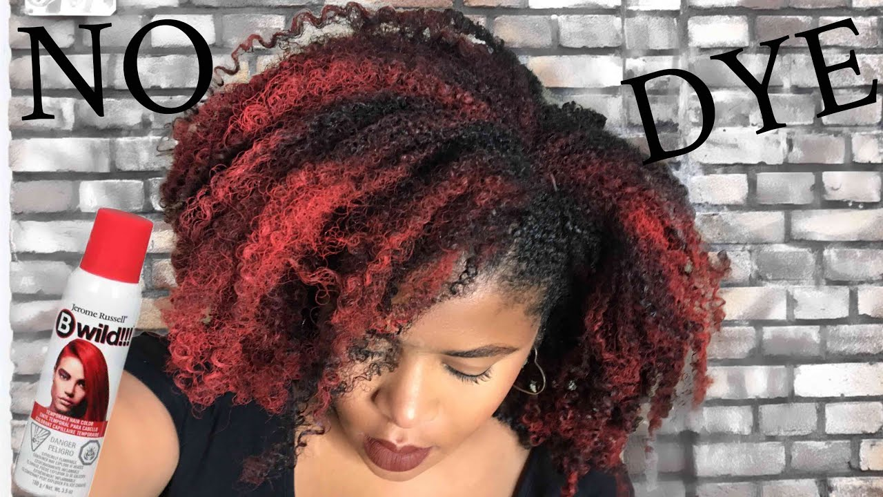Color Natural Hair Red W Temporary Hair Spray Jerome Russel B Wild