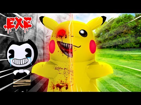 Minecraft POKEMON GO PIKACHU.EXE - EVIL PIKACHU.EXE TAKES OVER BENDY AND THE INK MACHINE FACTORY