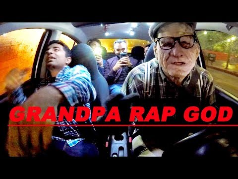 Grandpa Uber Driver KILLS Rap God at 120% Speed!!!