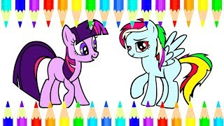 Drawing MY LITTLE PONY For Kids - Draw Cute Pony And Coloring Book