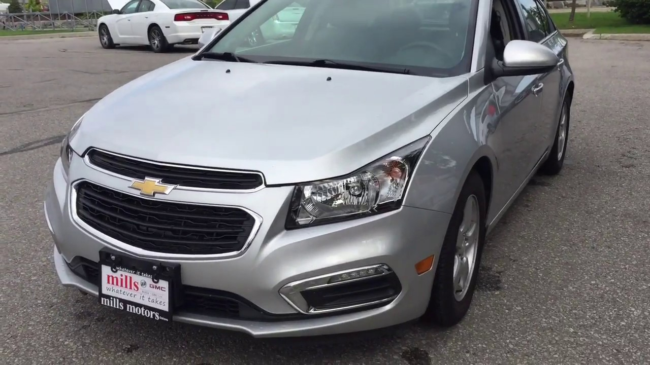 Pre Owned 2015 Chevrolet Cruze Lt Sunroof Silver Oshawa On Stock 181437b