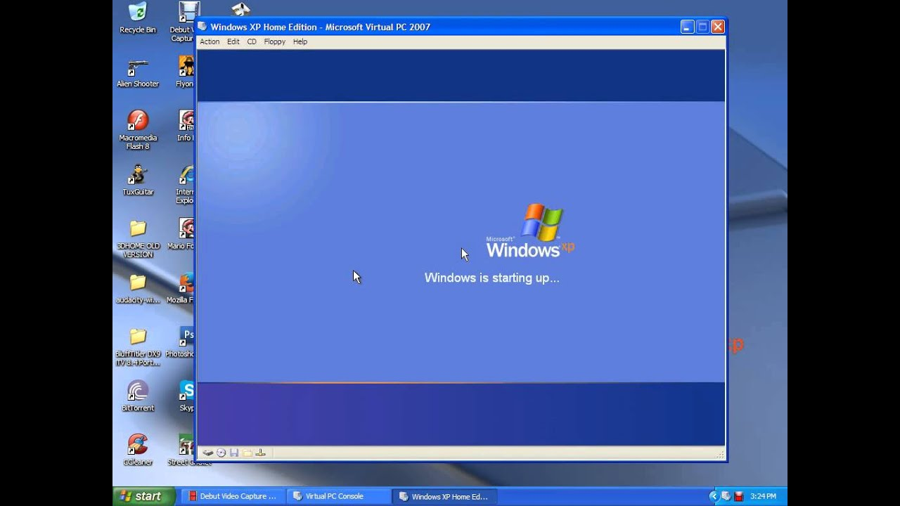 Windows Xp Home Edition On Just 32 Mb Of Ram Youtube