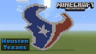 Minecraft: Pixel Art Tutorial and Showcase: Houston Texans Logo (NFL)