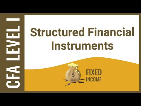 CFA Level I Fixed Income - Structured Financial Instruments
