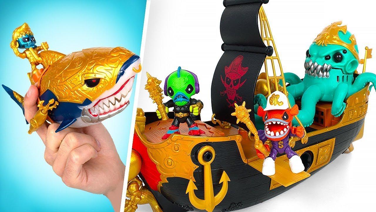 Navio Naufragado, Garrafa do Mar e Tesouro do Tubarão || Playsets de Treasure X