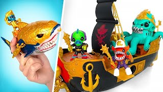 Navio Naufragado, Garrafa do Mar e Tesouro do Tubarão || Playsets de Treasure X