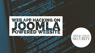 Tutorial: Web Application Hacking (Joomla Powered Website)