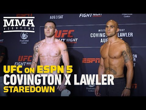 UFC on ESPN 5: Colby Covington vs. Robbie Lawler Staredown - MMA Fighting