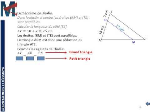 3ème - AGRANDISSEMENTS REDUCTIONS - Le théorème de Thalès ...