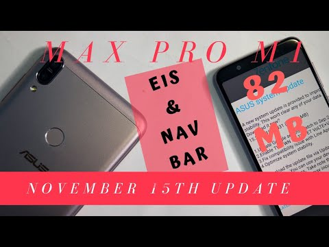 asus Zenfone max pro m1 after November update. eis and live wallpapers - YouTube