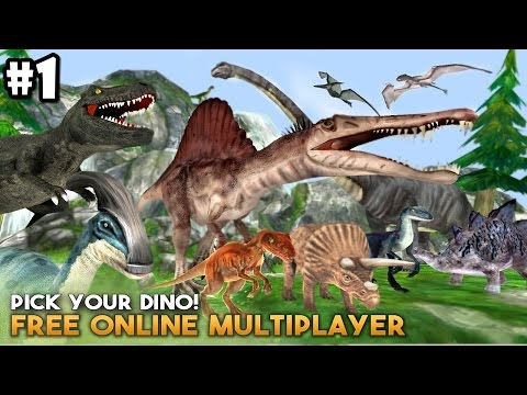 Dino World Online - Hunters 3D By Foxie Games - Android / iOS - Gameplay Part 1