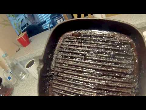 Quick Tip - How To Clean Charred Cast Iron Grill Pan