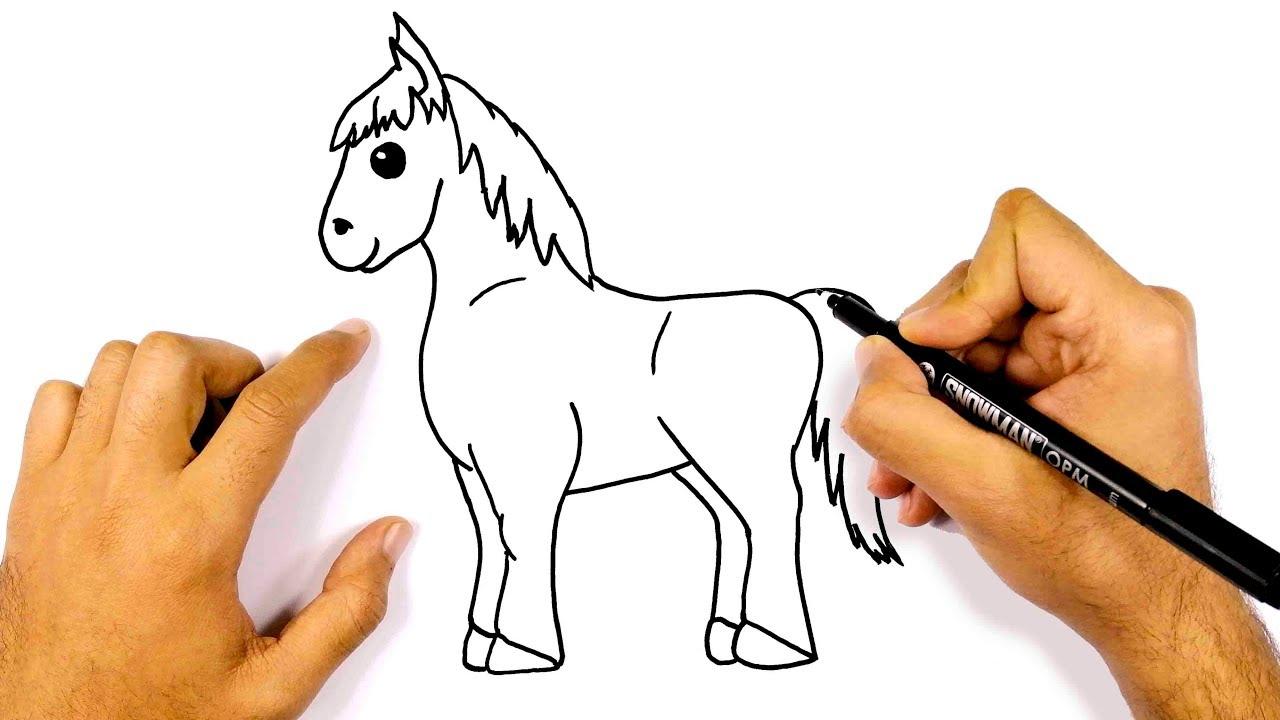 رسم حصان خطوة بخطوة للمبتدئين كيف ترسم حصان تعليم الرسم