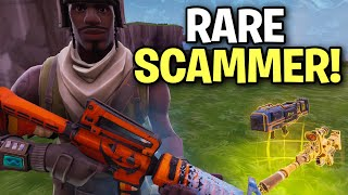Scammer reveals to me his RAREST item EVER! 😱 (Scammer Get Scammed) Fortnite Save The World