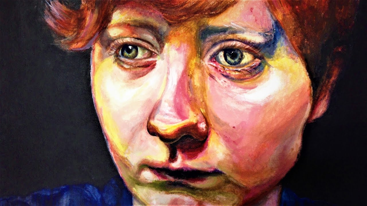 acrylic portrait youtube