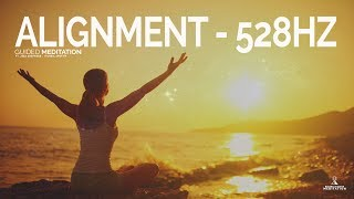 Guided Meditation ALIGN with the FREQUENCY of WELLNESS 528HZ (Positive Vibration Meditation)