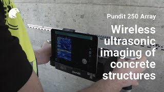 Pundit Live Array — Wireless ultrasonic imaging of concrete structures