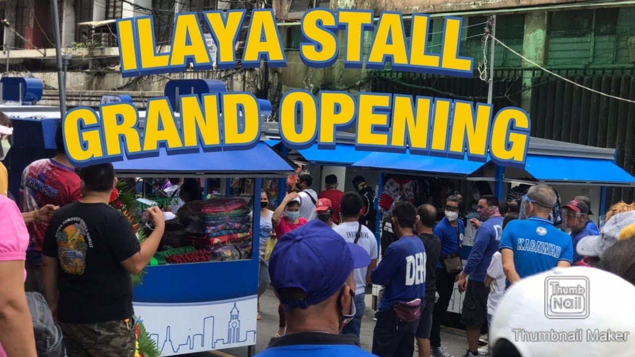 Ilaya stall Grand Opening with Mayor Isko Moreno