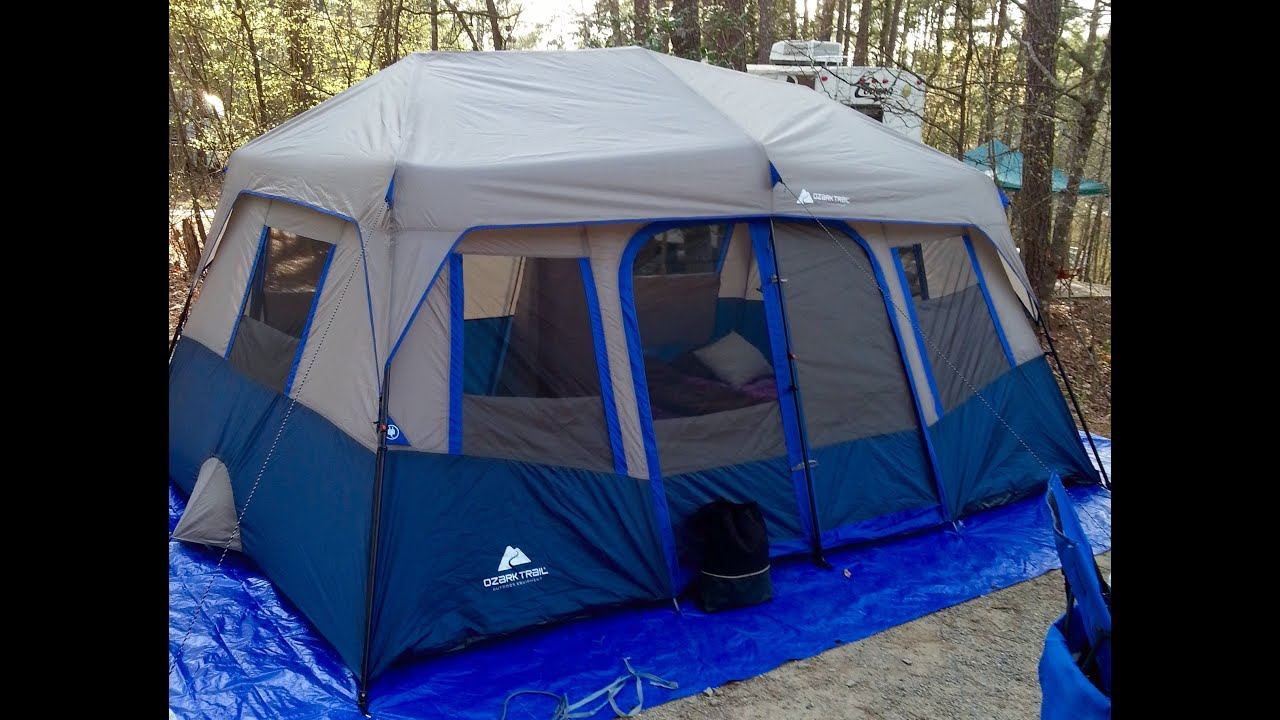 & Ozark Trail 10 Person Instant Tent Review - YouTube