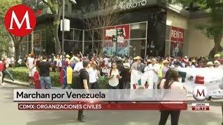 Marchan por Venezuela en Cdmx