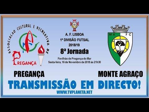 Transmissão Futsal: PREGANÇA x MONTE AGRAÇO - 1ª Divisão AFL 2018/19