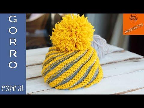 Gorro Espiral tejido en dos agujas (Todas las tallas) - Soy Woolly