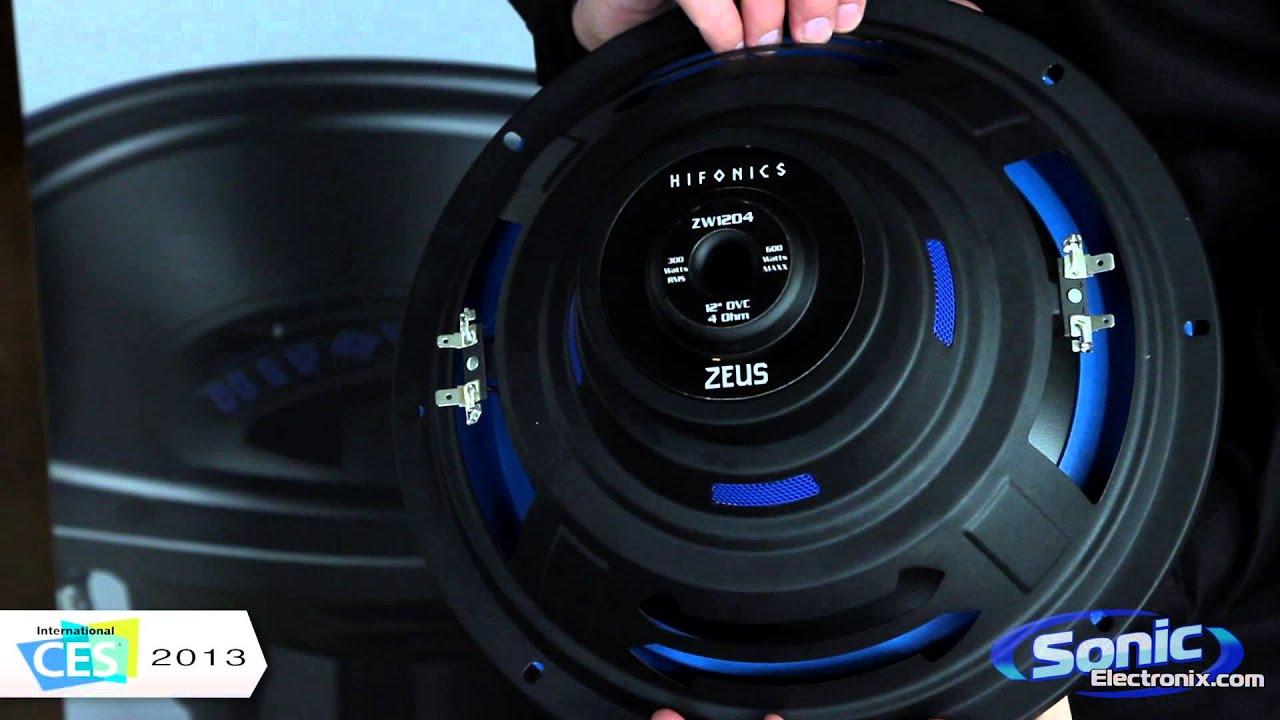 Hifonics Zeus Car Subwoofer | Maxxsonics @ CES 2013