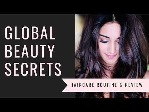 GLOBAL BEAUTY SECRETS - HAIR CARE ROUTINE & REVIEW | ERICA FERNANDES |