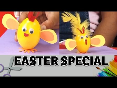 How To Make A Easter Egg Chick Art And Craft Ideas Easter Egg