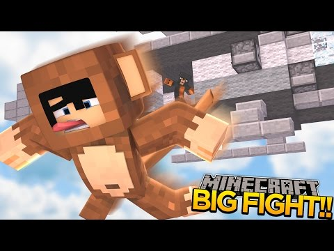 Minecraft - Donut the Dog Adventures -DONUT & MAX THE MONKEY HAVE A BIG FIGHT!!