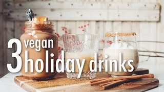 3 VEGAN HOLIDAY DRINKS  * HAZELNUT HOT CHOCOLATE * BAILEY'S * EGG NOG | hot for food