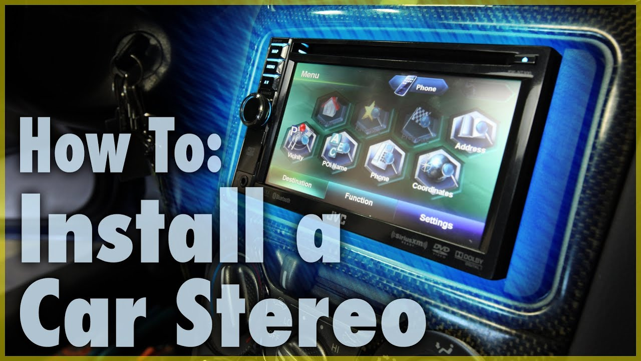 How To Install A Car Stereo Single Double Din Audio 101 Toyota Navigation Wiring Diagram Youtube