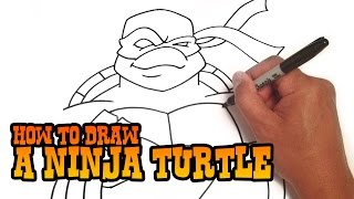 How to Draw a Teenage Mutant Ninja Turtle - Step by Step Video