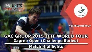 Zagreb Open 2015 Highlights: HACHARD Antoine vs MENGEL Steffen (R 64)