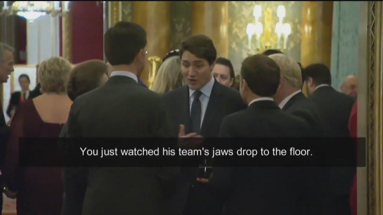 Trudeau, world leaders talk Trump on sidelines of NATO summit