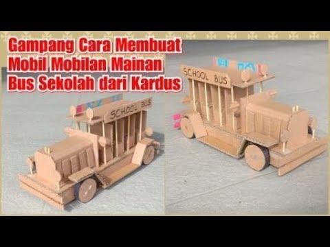 Gampang Cara Membuat Mobil Mainan Bus Sekolah Elektrik Dari Kardus