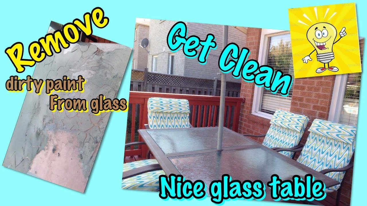 How To Remove Paint From Glass So Easy So Fast Youtube