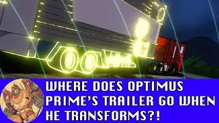Optimus Prime's Trailer and the Subspace Storage Pocket!