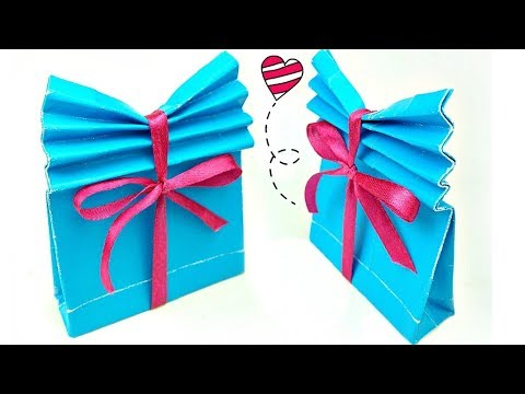 Origami Gift Box with One Sheet of Paper - YouTube | 360x480