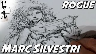 Marc Silvestri drawing Rogue