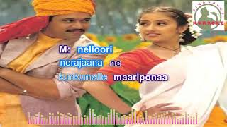 nelluri nerajaanaa telugu karaoke for Male singers with lyrics