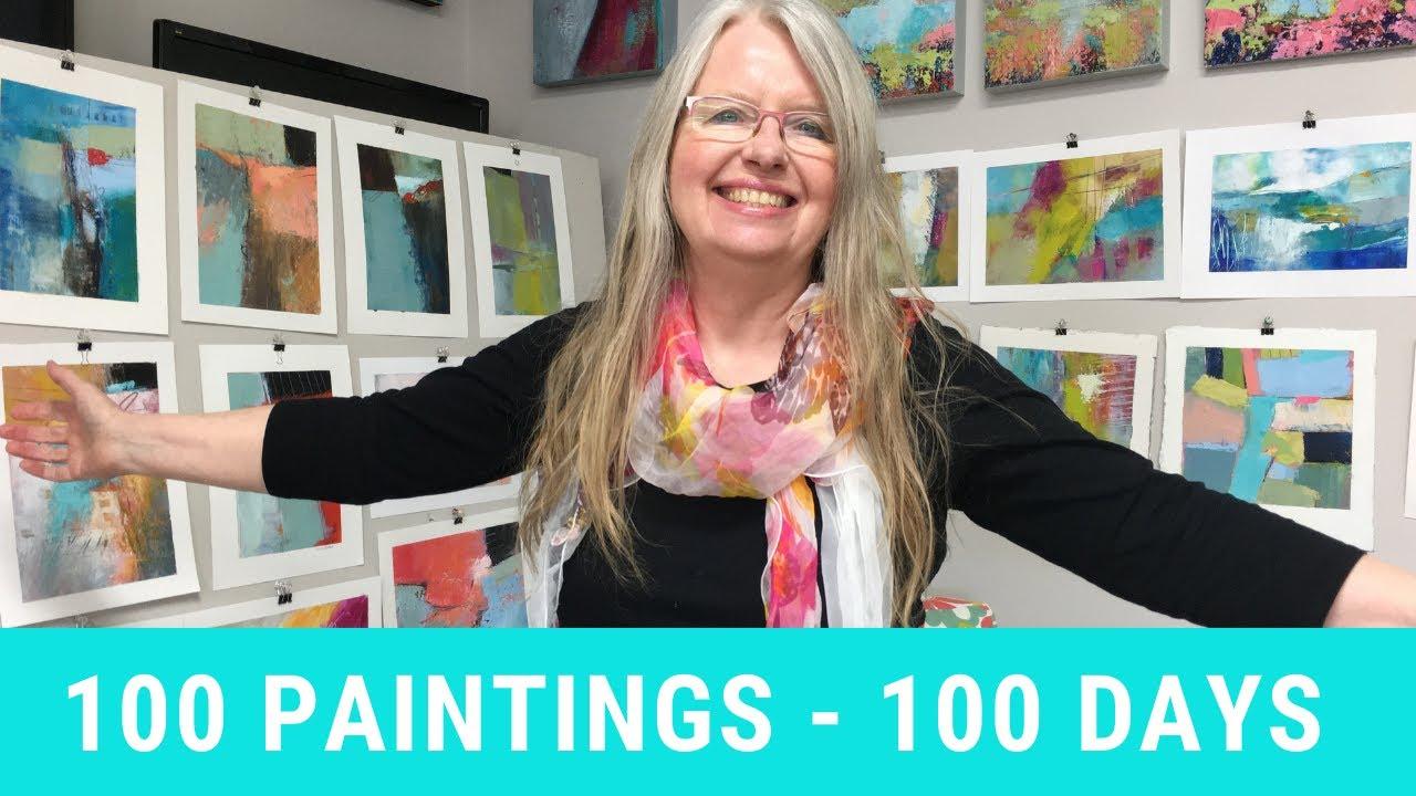 100 Days of Art with Patt Scrivener AFCA
