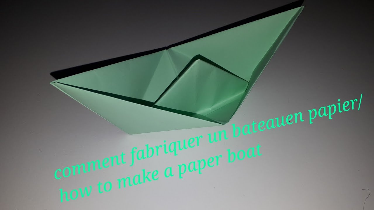 comment faire un bateau en papier how to make a paper boat youtube. Black Bedroom Furniture Sets. Home Design Ideas