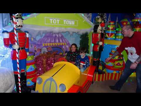 Visiting Santa's Grotto At Ottery St. Mary - Otter Nurseries - 2017