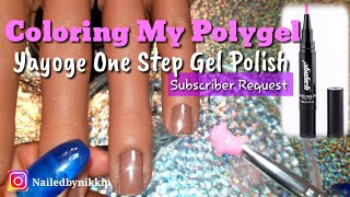 Coloring my Polygel with gel polish: Subscriber Request