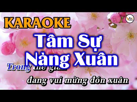 Tâm Sự Nàng Xuân - KARAOKE | Vici Karaoke